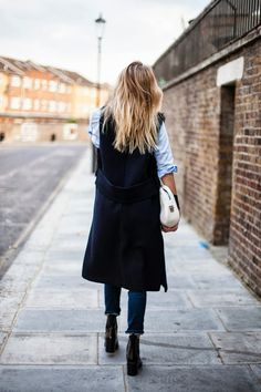 Ombrè, Chambray, Rolled Up Jeans + Long Sleeveless <3