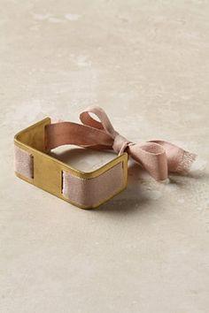 tie-around bracelet by anthropology €264 (brass & cotton)