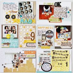 My week 9 right page using SB add-on2, card kit, PL add-on & stamp. #studiocalico #projectlife #projectlife2013 - @Leena Loh