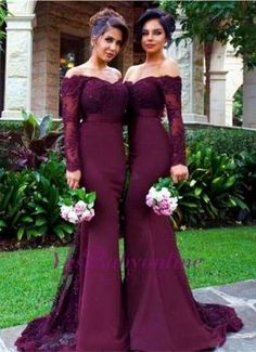 Mermaid Long Sleeves lace off the Shoulder Sexy Bridesmaid Dresses For Weddings Long Sleeves Bridesmaid Dresses, Mermaid Prom Dresses, Lace Bridesmaid Dresses, Wedding Dresses, Backless Prom Dresses Bridesmaid Dresses 2018 Wine Color Bridesmaid Dress, Lavender Bridesmaid Dresses, Bridesmaid Dresses With Sleeves, Mermaid Bridesmaid Dresses, Bridesmaid Dresses Online, Lace Bridesmaids, Mermaid Dresses, Dresses Dresses, Wedding Dresses