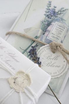 Lavendar sprigs, sealing wax and string ... pretty