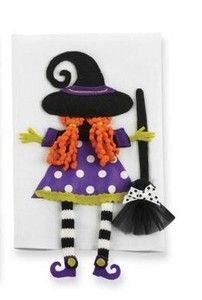 Mud Pie Holiday Halloween Trick Or Treat Towels- Witch and Broom  $9.99 each Sold at Baby Family Gifts Ebay