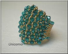 unicorniopasion: anillos. Esquema anillo de abalorios.