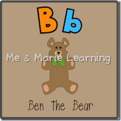"""Bb: Ben the Bear"" Letter Pack (free)"