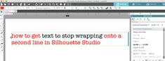 How to get text to stop wrapping onto a second line in Studio.