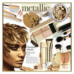 """""""Metallic Makeup"""" by idetached ❤ liked on Polyvore featuring beauty, Dolce&Gabbana, Iman and In Your Dreams"""