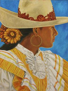 Charra Bonita Painting  - Charra Bonita Fine Art Print by Pat Haley. Reproductions available for purchase. Mexican rodeo. Original has been sold.