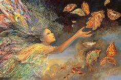 Josephine Wall • Honeysuckle and a fairy. Description from pinterest.com. I searched for this on bing.com/images