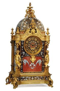 A FRENCH ORMOLU AND CHAMPLEVÉ ENAMEL STRIKING MANTEL CLOCK | CIRCA 1880 | striking, mantel | Christies
