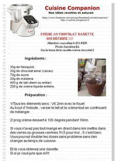 Crème dessert chocolat avec Companion Moulinex