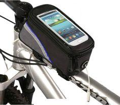 Iyi anlaşma Bisiklet Bisiklet Bisiklet Çerçeve Pannier Çanta Ön Tüp Çanta Telefon Cep Mavi