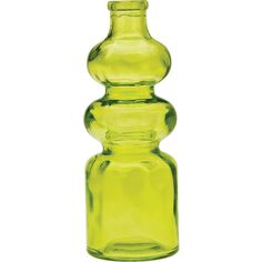 Small Vintage Glass Bottle (7-Inch, Genevieve Design, Chartreuse... ($9.25) ❤ liked on Polyvore featuring home, home decor, cultural intrigue, medicine bottle, glass bottles, glass home decor and glass medicine bottles