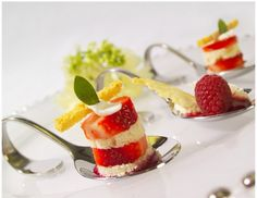 little fancier and serve fresh fruit desserts on these silver appetizer spoons