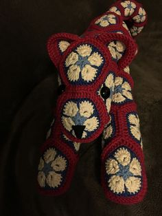 Ravelry: Project Gallery for Lazy Leopard - African Flower Cat pattern by e Raitoharju