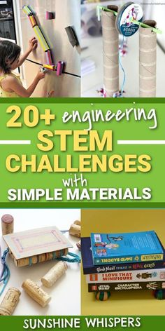 Kids' Summer STEM Activities with Simple Materials   Sunshine Whispers. Here are 20+ engineering STEM activities elementary or older kids can do with simple materials you probably already have on hand at home. Take time this summer to inspire creativity, foster problem-solving skills, encourage critical thinking and treamwork, refine motor skills--all without breaking the bank and while spending quality family time with your kids this summer. Let your kids discover just how awesome STEM can…