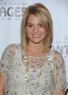 Candace Cameron Bure Mid-Length Bob - Shoulder Length Hairstyles Lookbook - StyleBistro