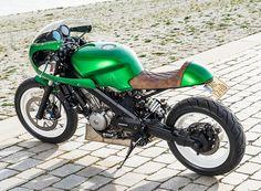 honda NTV650 green goblin custom motorcycle wimoto designboom