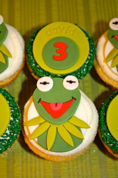 LOVEABLE FROG CHARACTER  -  Fondant Cupcake, and Cookie Toppers - 1 Dozen. $19.95, via Etsy.