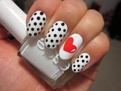 Very Valentine's Day Nail Art - www.nailsmag.com/style/nail-art #nailart