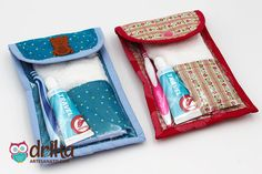 Footsteps Learn How to Make a Beautiful Useful Oral Care Kit! Sewing Hacks, Sewing Tutorials, Sewing Crafts, Diy Home Crafts, Diy Arts And Crafts, Diy Bags No Sew, Diy Couture, Sewing Projects For Kids, Wallet Pattern