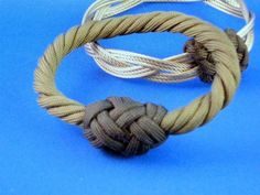 A three strand grommet and a Turk's Head knot make a very handsome bangle bracelet.