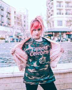 Famous Celebrity Camo Tee – Carly & Erin