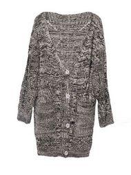 Fashion Personality Midi Length Full Sleeve Knit Cardigans