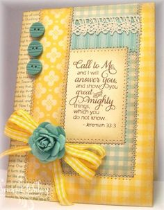 I usually do not like yellow, but this card is gorgeous! #cardmaking #diy #crafts