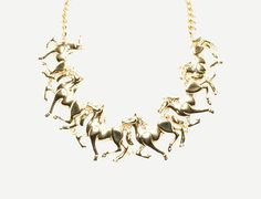Horse Icon Bib Necklace