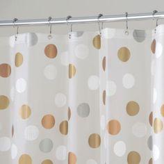 InterDesign Gilly Dot 72-Inch x 72-Inch Shower Curtain - BedBathandBeyond.com