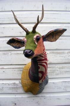 Patchwork Tweed Roe Deer Head @ Rockett St George by the lovely Carola