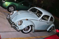 Vintage VW Beetle. One of the coolest cars you do not have to restore to enjoy. European AG Car Club in Houston Tx on a Friday Night. Photo by Donald Bond