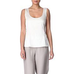 ARMANI COLLEZIONI Classic silk vest (Cream