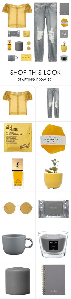 """""""it's the little things you do that makes me love you."""" by lost-on-the-horizon ❤ liked on Polyvore featuring Isa Arfen, 7 For All Mankind, Comodynes, Yves Saint Laurent, Dot & Bo, Illesteva, Dermalogica, CB2, Baobab Collection and Mulberry"""
