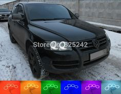 59.00$  Buy here - http://ali1ng.worldwells.pw/go.php?t=32356946948 - For Volkswagen VW Touareg 2003-2007 Excellent Angel Eyes kit Multi-Color Ultrabright RGB LED Angel Eyes Halo Rings