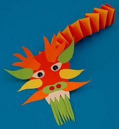 Chinese New Year. How art is used in cultural celebrations. paper sculpture PART 2 Chinese New Year Crafts For Kids, Chinese New Year Dragon, Chinese New Year Activities, Chinese New Year Decorations, Chinese Crafts, New Years Activities, New Years Decorations, Art For Kids, Literacy Activities