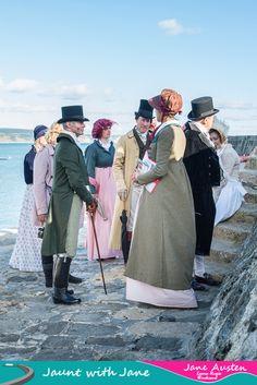 Jane Austen Tour of Lyme Regis on the Cobb at Lyme Regis Jaunt with Jane Lyme Regis Weekend www.jauntwithjane.com