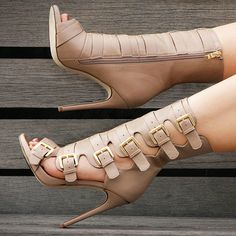 Nelly Bernal Buckle Booties