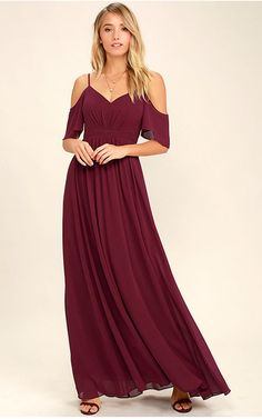 Ways of Desire Wine Red Maxi Dress
