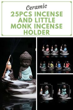 Little Monk Censer Home Decor Creative Gift This is a great piece of valuable collection, a valuable personal alter or a very good present. the handwork is very fine with incredible detailing. Application of space: Tea room, Temple, Living Room, Bedroom, Office, Yoga and So On. Fresh Air, Good Sleeping, Calm Emotions, Relieve Anxiety, Relieve Fatigue, and so on. Affiliate ad,  zen mamma, meditation, yoga, mindfulness