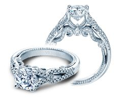 ♥omgosh INSIGNIA-7082R - INSIGNIA-7082R engagement ring from the Insignia Collection, featuring 0.30ct. of round brilliant-cut diamonds to enhance a round cut diamond center.    Available in Gold and Platinum.