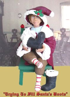 """""""Trying To Fill Santa's Shoes""""  $45.00"""