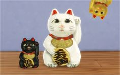 The Beckoning Cat This lucky cat is converted from TS2 Pets. Comes in 2 sizes. Original is the bigger one.  My add-on is the smaller one and it´s made for shelves and tiny places. Both comes in 3 colors and can be found in decorations/sculptures category. I hope it bring a more luck to your simhouses! =D DOWNLOAD