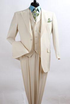 Apollo King Men's 3 Piece Fashion Suit - Double Pleated Pants