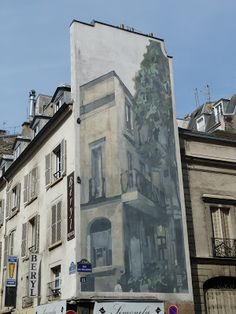 Trompe l'œil 15, rue de Mogador Paris 75009. Réalisation : Art Chantier Décor.