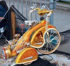 Pimped Up Fancy Trike. Cool Bicycles, Vintage Bicycles, Cool Bikes, Kids Trike, Velo Retro, Lowrider Bicycle, Lowrider Toys, Power Bike, Radio Flyer