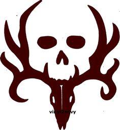 Deer Hunting Decal with Skull Vinyl Car Decal Car by Vinyl2Envy, $14.00