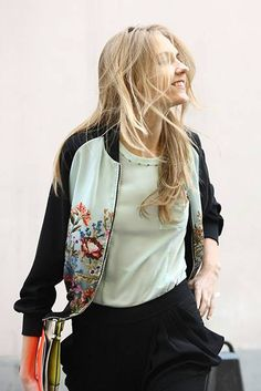 Sweet floral bomber jacket from Shanghai-based label Lily (anyone know a stockist in the UK?!)