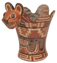 TIAHUANACO/ encensoir / puma Peruvian Art, Ancient Words, Peruvian Textiles, North And South America, Ceramic Animals, Inca, Animals Images, Berlin, Ancient Artifacts