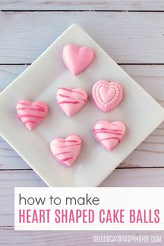Do you love cake balls? Here's a fun way to learn how to make heart shaped cake balls for someone special for Valentine's Day. Plus kids can make them too with this easy recipe! White Chocolate Candy, Chocolate Candy Melts, Homemade Valentines, Valentines For Kids, Little Debbie Zebra Cakes, Heart Shaped Candy, Food Mold, Valentine's Day Crafts For Kids, Icing Colors